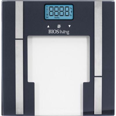 Pèse-personne analyseur de graisse corporelle en verre avec pile au lithium BIOS Living 5 YR WARRANTY