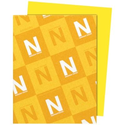 Papier Astrobrights Neenah, jaune éclatant, format lettre, certifié FSC et Green Seal, 24 lb, rame FSC LASER INKJET GUARANTEED SUNBURST YELLOW