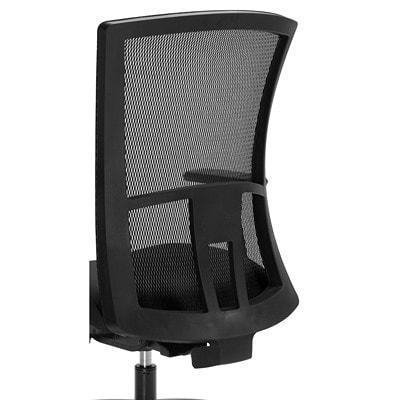 Global Vion Synchro-Tilter Mid-Back Chair, Grey, Imprint Fabric GREY