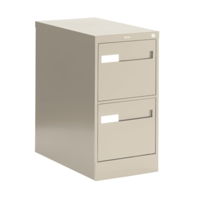 Global 2600 Plus Series Files, 2-Drawer, Letter-Size, Putty W/LOCK W/RECESSED PULL20Y WARR FULL CRADLE SUSP. 26-1/2 DEPTH