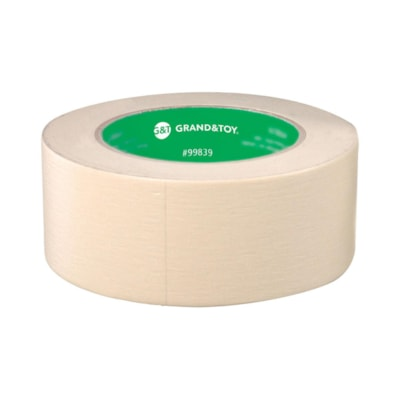 Grand & Toy General Purpose Masking Tape, 48 mm x 55 m, 3 Rolls/PK PACK OF 3 GENERAL PURPOSE