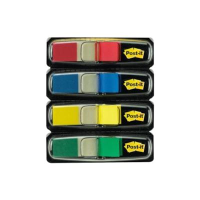"""Post-it 1/2"""" Standard Message Primary Colour Flags 4 ASSR'D REGULAR COLOURS 3M"""