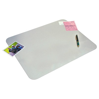 """Artistic Krystal View Clear 36"""" x 20"""" Desk Pad With Microban CLEAR"""