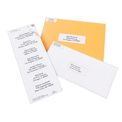 "Avery 5960 Easy Peel Address Labels, White, 1"" x 2 5/8"", 30 Labels/Sheet, 250 Sheets/BX 2 5/8X1 PERMANENT ADHESIVE BOX/7500 AVERY 30LB/SHT"
