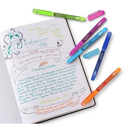 Paper Mate InkJoy Gel Capped Pens, Fashion Colours, Medium 0.7 mm, 8/PK MEDIUM 0.7MM  FASHION ASST COL