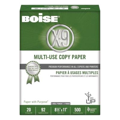 Papier à usages multiples X-9 Boise, rame BOISE SANS ACIDE COMPA LASER ANTI-STATIQ.BRILLANCE 92