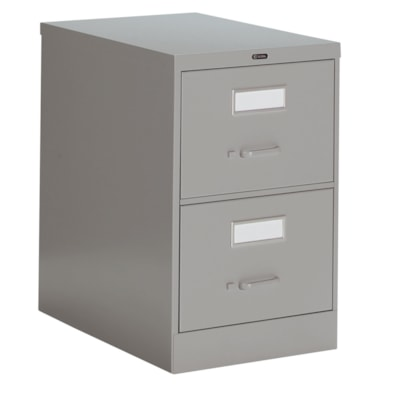 """Global 2600 Series Economy Vertical File, 2-Drawer, Grey, Legal Size 18""""W X 26 9/16""""D X 29""""H ECONOMY"""