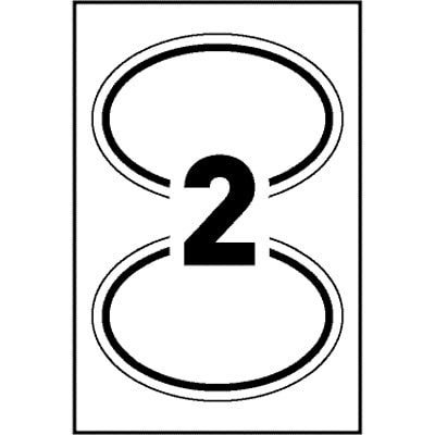 """PAPER LABEL OVWEGLY DT 2U4S 2?"""" X 3?"""" WHT 8/PK LASER/INKJET"""