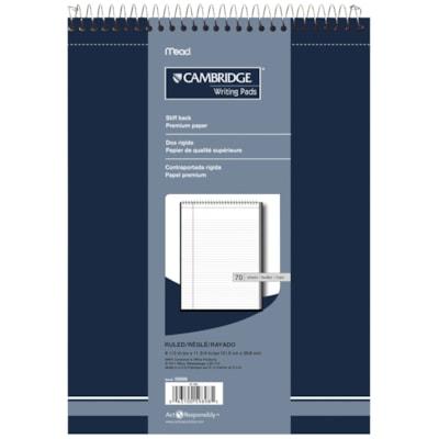 Cambridge Business Notebook 70 SHEETS HEAVYWEIGHT WHITE BOND COLLEGE RULED CAMBRIDGE