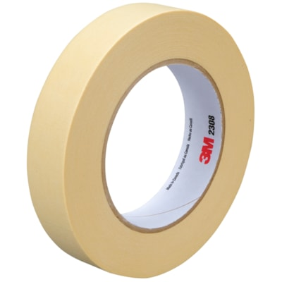 3M Performance Masking Tape (2308), Tan, 24 mm x 55 m