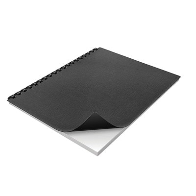"Swingline GBC Solid Standards Black Presentation Covers With Rounded Corners PRESENTATION COVERS 8.5"" X 11""  25 PACK  BLACK"