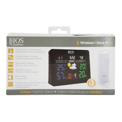 BIOS Living Colour Weather Station MEASUES WEATHER CONDITIONS