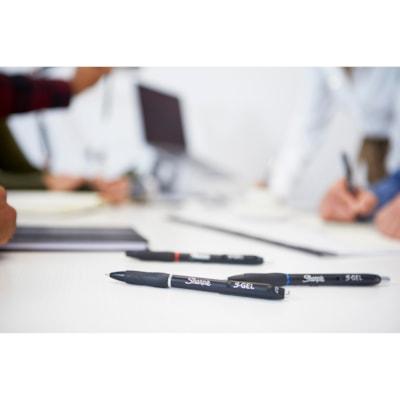 Sharpie S-Gel Retractable Pens, Red, Medium 0.7 mm