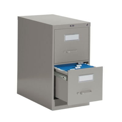 "Global 2600 Series Economy Vertical File, 2-Drawer, Grey, Letter Size 15""W X 26 9/16""D X 29""H ECONOMY"