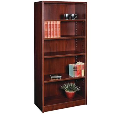 "HDL 5-Shelf Royal Mahogany Bookcase ROYAL MAHOGANY FINISH 32""W X 14""D X 72""H"