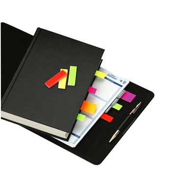 """Post-it Page Markers, Assorted Fluorescent Neon Colours, 1/2"""" x 2"""", 50 Sheets/Pad, 5 Pads/PK FLUORESCENT NEON COLOURS 50 SHT/PAD 5 PADS/PK"""