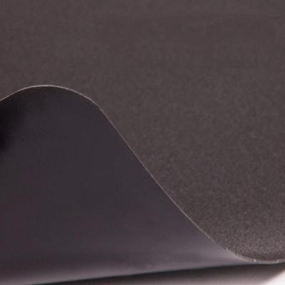 "Deflecto EconoMat Smooth-Back Vinyl Chairmat for Hard Floors, Black, 45"" x 53"" (CM21242BLK) 45""X53"" RECTANGULAR BLACK- NON-STUDDED"