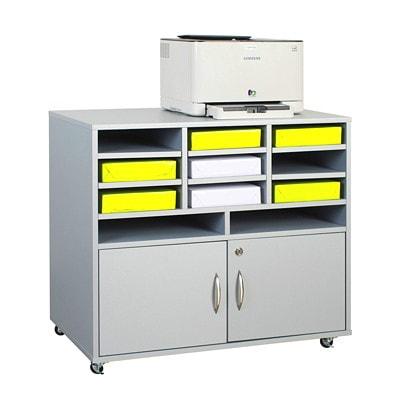 "HDL Subra Machine Cabinet with Storage GREY PVC LAMINATE FINISH 32.3""W X 19.3""D X 28.9""H"