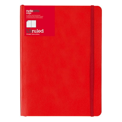"""Carnet Edge 8 1/4 po x 5 13/16 po Rouge Letts 192 RULED PAGES  CREAM PAPER 8 1/4"""" X 5 13/16"""""""