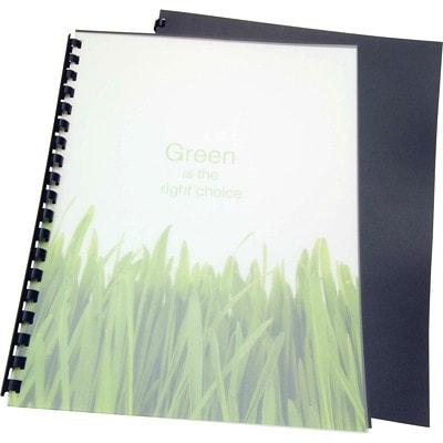 """Swingline GBC Recycled Poly Presentation Binding Black Covers SIZE 8 1/2 X 11"""" 100% RECYCLED POLY BINDING COVER"""