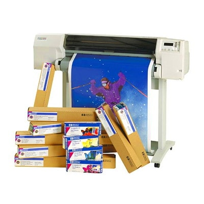 HP UNIVERSAL BOND PAPER 106 MICRONS (4.2 MIL) 3 INCH CORE  24 IN X 500 FT