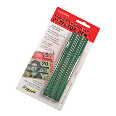 Dri-Mark Canadian Money Counterfeit Detector Pens, For Canadian Bills, 3/PK SPECIAL PATENTED FORMULA DETECTS BAD BILLS
