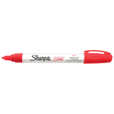 Sharpie Oil-Based Opaque Paint Marker, Red, Medium Tip