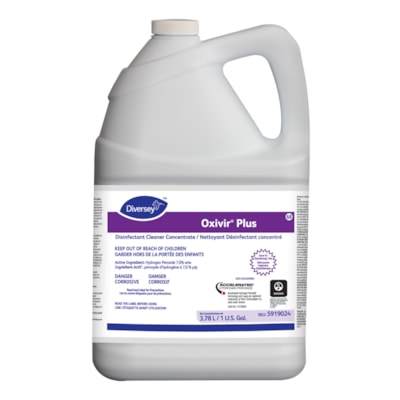 Diversey Oxivir Plus Disinfectant Cleaner, 3.78 L CONCENTRATE