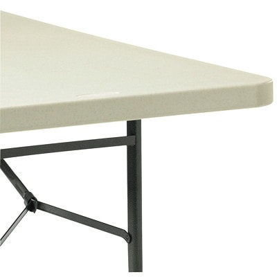 Global Lite-Lift II Rectangular Folding Table OYSTER TOP BLACK LEGS 30X72X29 DURBLE POLYPROP TABLE