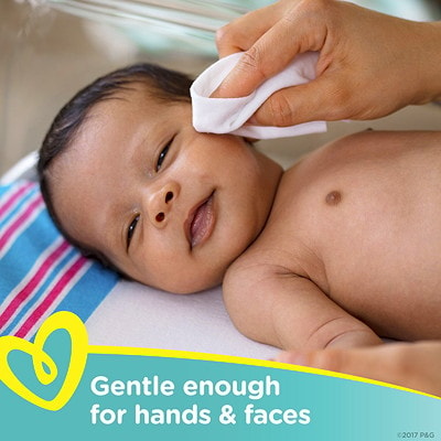 Lingettes pour bébé Pampers Sensitive, sans parfum, emb. de 56