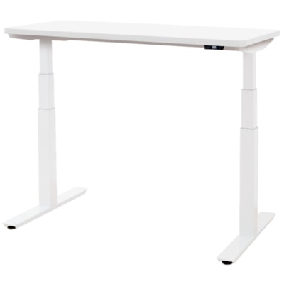 """ergoCentric upCentric Height-Adjustable Table, Designer White, 24"""" x 48"""" 24""""X48""""  ELECTRIC W 1 GROMMET WHITE FRAME  WHITE TABLE TOP"""