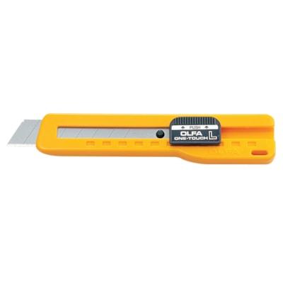 OLFA Heavy-Duty Slide Lock Utility Knife W/ONE-TOUCH BLADE SLIDE LOCK SNAP-OFF CUTTER BLADES-18MM