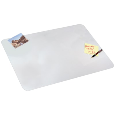 """Artistic 24"""" x 19"""" Eco-Clear Desk Pad Protector Sheet With Microban Antimicrobial Protection MICROBAN"""