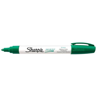 Sharpie Oil-Based Opaque Paint Marker, Green, Medium Tip