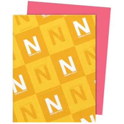 Papier Astrobrights Neenah, rose plasma, format lettre, certifié FSC et Green Seal, 24 lb, rame FSC LASER INKJET GUARANTEED PLASMA PINK