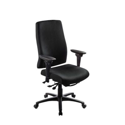 ergoCentric uCentric Ergonomic High-Back Multi-Tilt Chair STANDARD SEAT  BLACK VINYL HEIGHT/WIDTH ADJ. SWIVEL ARMS