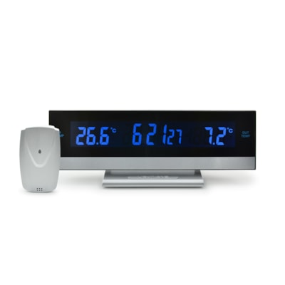 BIOS Living Digital Indoor/Outdoor Thermometer with Alarm -30°C TO 60°C/-22°F TO 140°F ALARM WITH SNOOZE FUNCTION