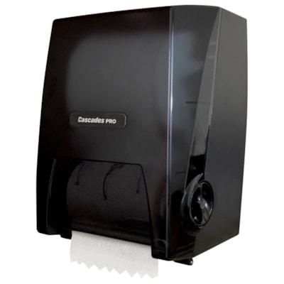 Cascades PRO Universal Mechanical No Touch Roll Towel Dispenser, Black ROLL TOWEL  BLACK CASCADES PRO