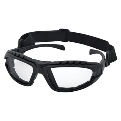 Dentec DustDevil Foamed Lined Safety Glasses, Black Frame/Clear Lens FOAM LINED WITH STRAP CSA