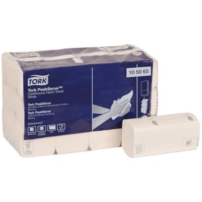 Tork 1-Ply Advanced PeakServe Continuous Hand Paper Towels, White, 410 Sheets/PK, 12/CT WHITE C-FOLD TOWEL 7.91X8.85 12 PK/CARTON