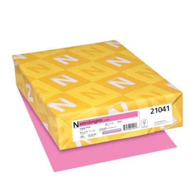 Papier couverture Astrobrights Neenah, couleur rose Pulsar Pink, format lettre, certifié FSC et Green Seal, 65 lb, rame FSC LASER JET D'ENCRE GARANTIE PULSAR ROSE