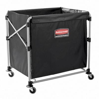 Rubbermaid Commercial Executive Collapsible X-Cart, Black 8 BUSHEL
