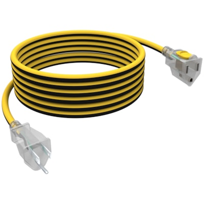 """Stanley Shopcord LiteMax 14/3"""" Outdoor Extension Cord With Lighted Ends, Yellow/Black, 25-ft YELLOW/BLACK  LIGHTED END SHOPCORD LITEMAX 25"""
