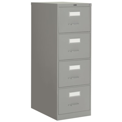 """Global 2600 Series Economy Vertical File, 4-Drawer, Grey, Legal Size 18""""W X 26 9/16""""D X 52""""H"""