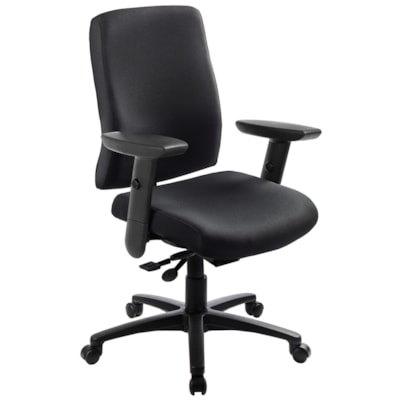 ergoCentric uCentric Mid-Back Conference Room Chair FABRIC BACK AND SEAT ONYX BLACK