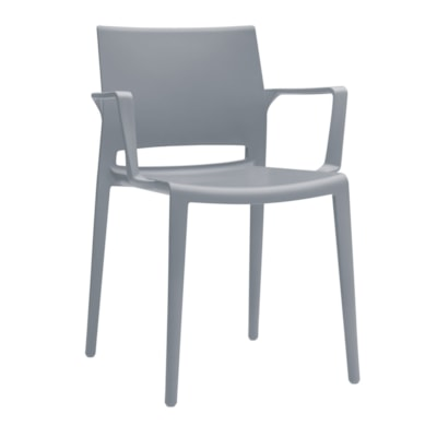 Global Bakhita Stacking Chair, With Armrests, Alloy POLYMER INDOOR / OUTDOOR CHAIR ALLOY