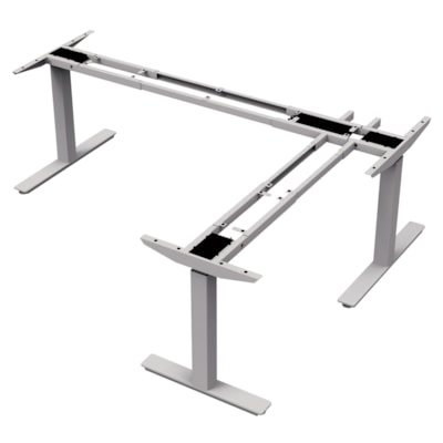 """ergoCentric upCentric 3-Leg Height-Adjustable Table Frame, 22"""" ELECTRIC  SILVER 22"""" FRAME  WIDTH ADJUSTABLE"""