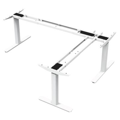 "ergoCentric upCentric 3-Leg Height-Adjustable Table Frame, 22"" ELECTRIC  WHITE 22"" FRAME  WIDTH ADJUSTABLE"