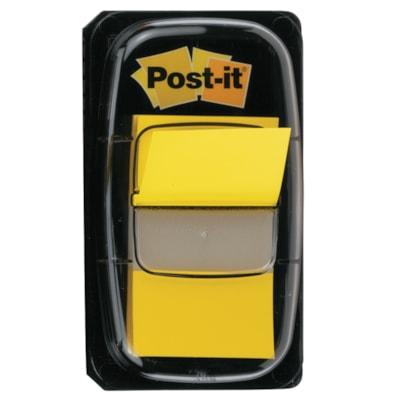 Languettes adhésives Post-it, jaune, 1 po x 1 7/10 po, 50 languettes AMOVIBLES TRANSP.MARQUENT SANS MASQUER  50/DISTRIB.