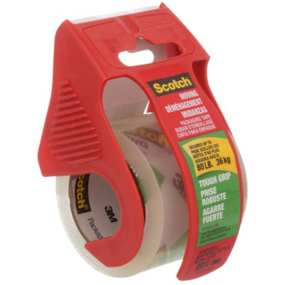 Scotch Tough Grip Moving and Packaging Tape with Dispenser, 48 mm x 20.3 m W/DISP 48MMX20.3M